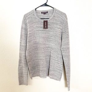 Michael Kors Crewneck Wool Blend Sweater Gray L